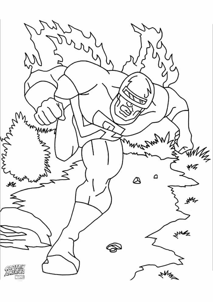 captain america coloring page 8