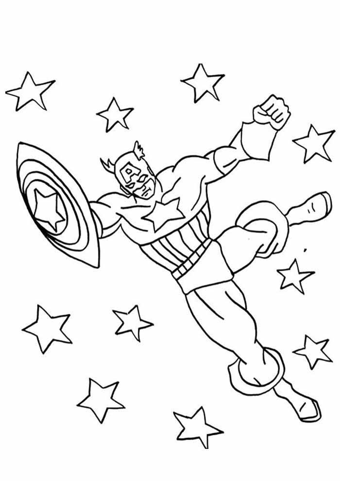 captain america coloring page 9