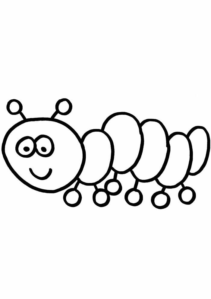 centopede coloring page for kids