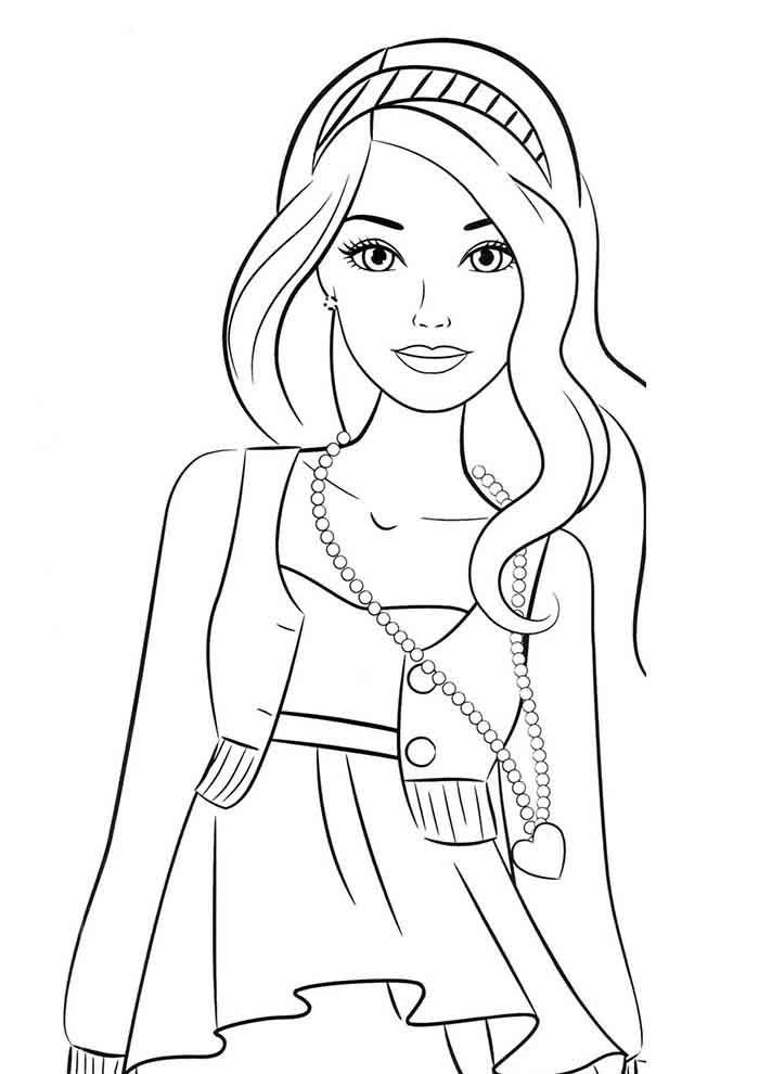 coloriage barbie 11