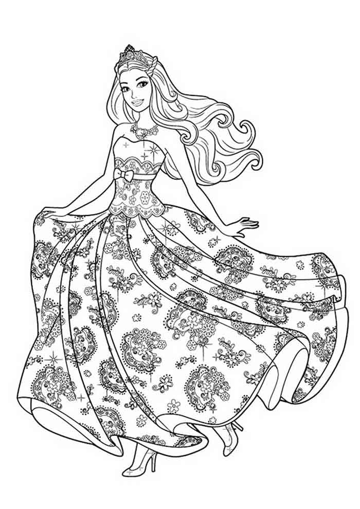 coloriage barbie 18