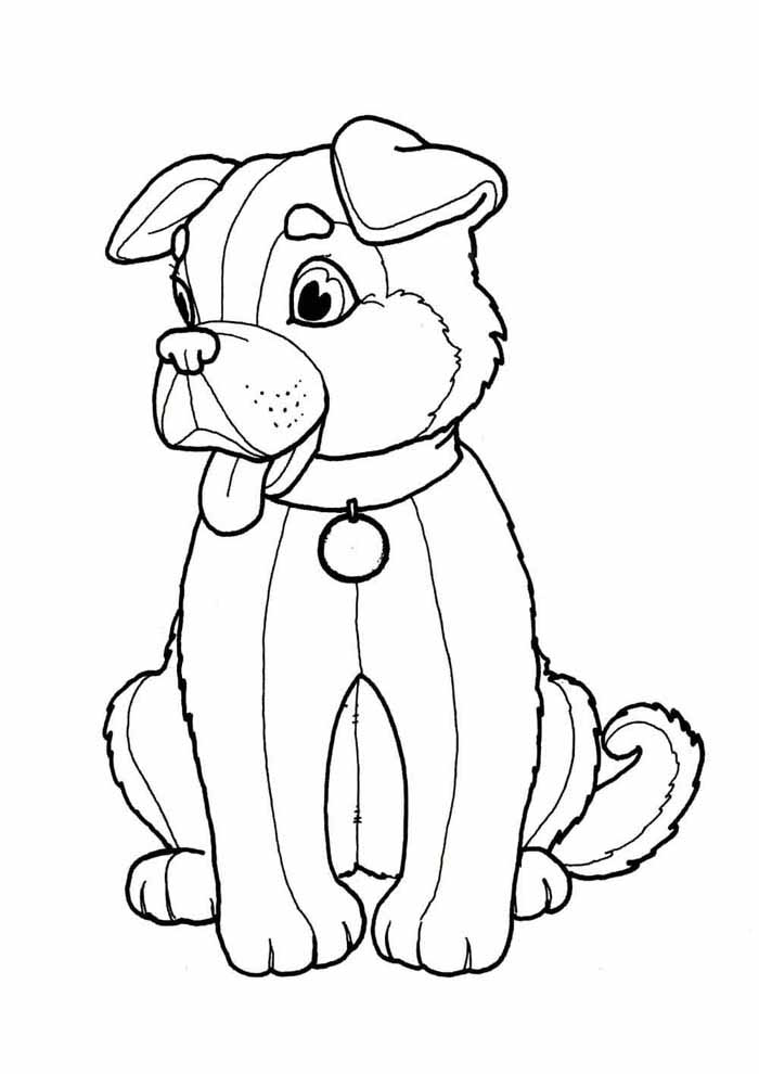 coloriage chien 2