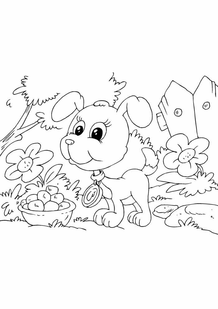 coloriage chien 29