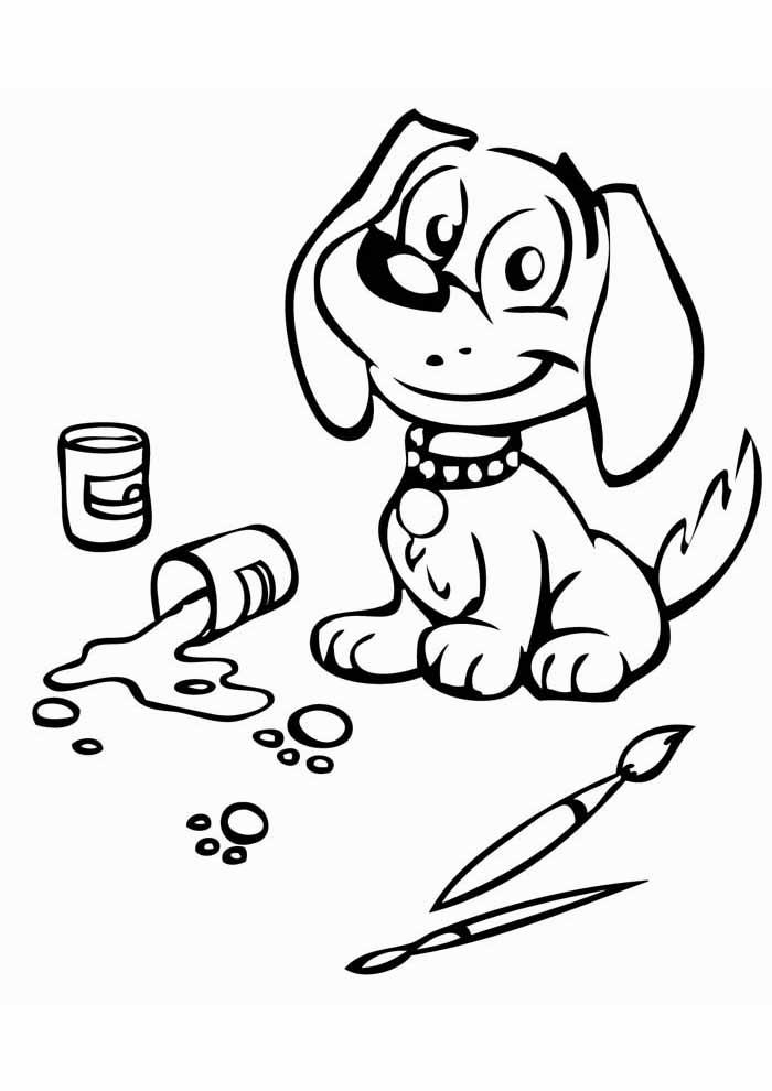 coloriage chien 35