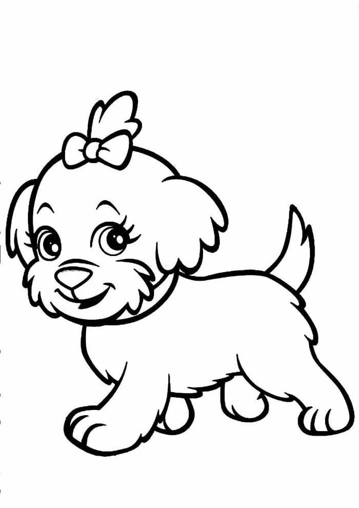 coloriage chien 5