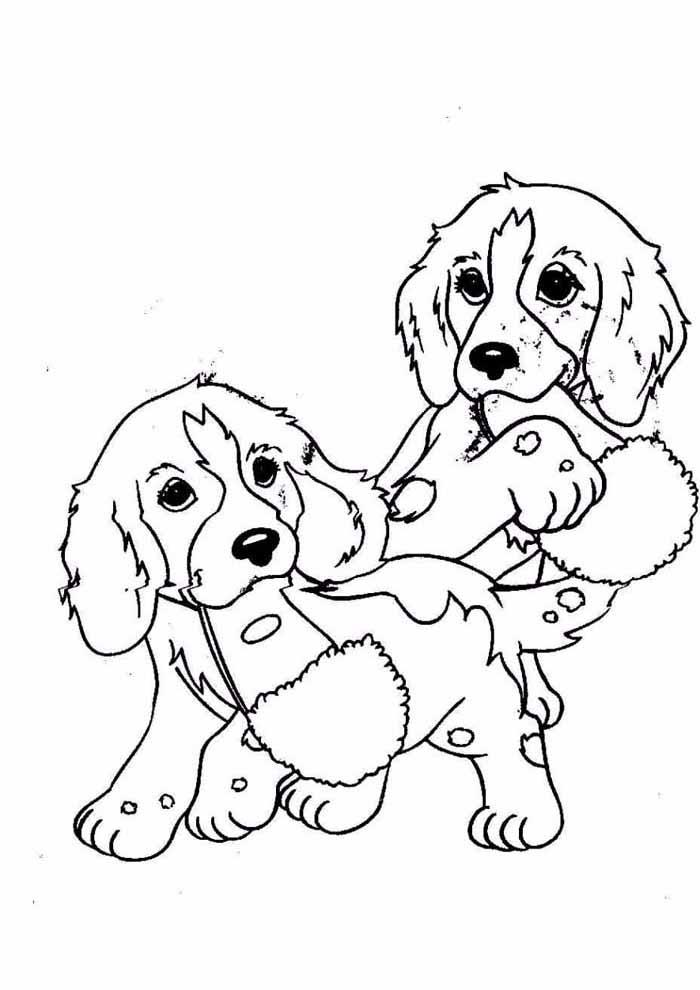 coloriage chien 60