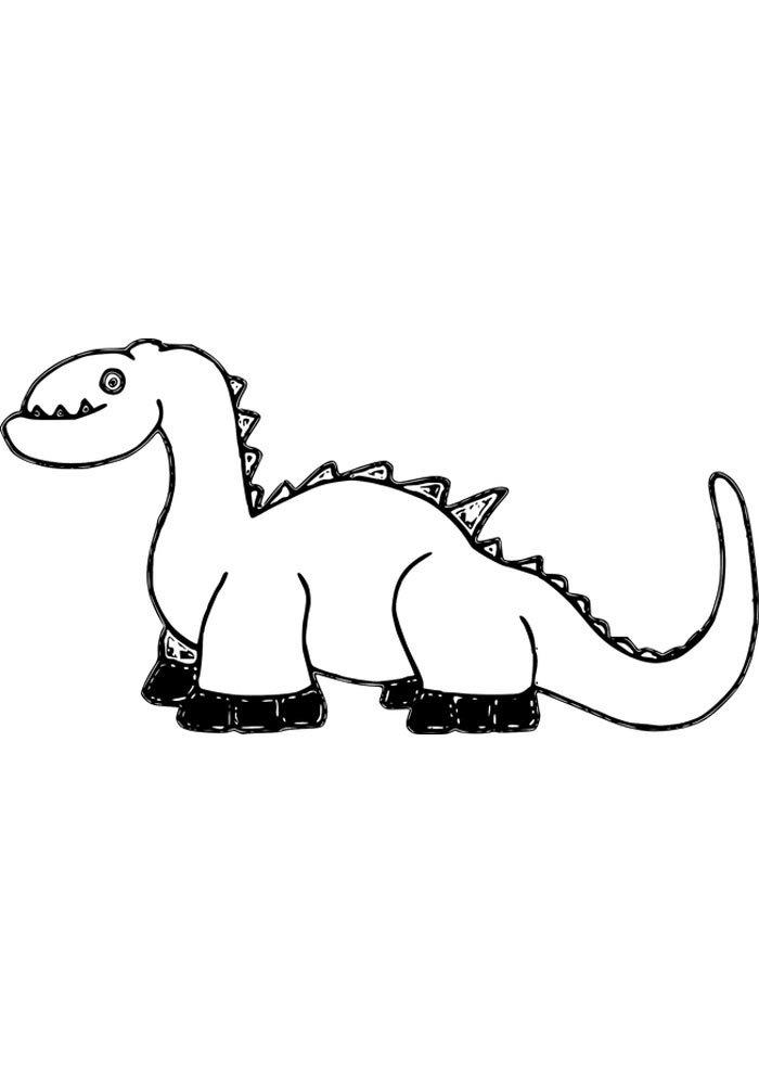coloriage dinosaure 1