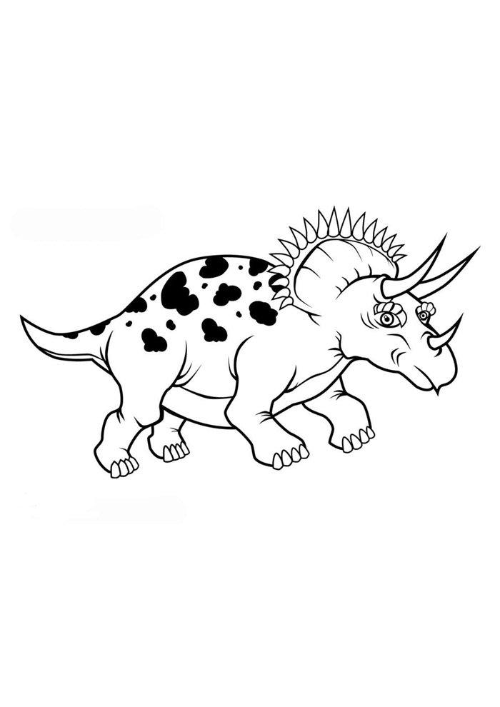 coloriage dinosaure 101