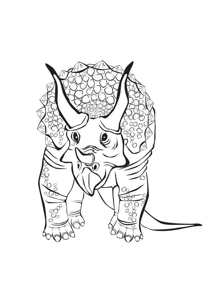 coloriage dinosaure 102
