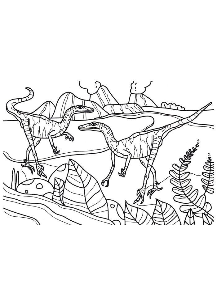 coloriage dinosaure 104
