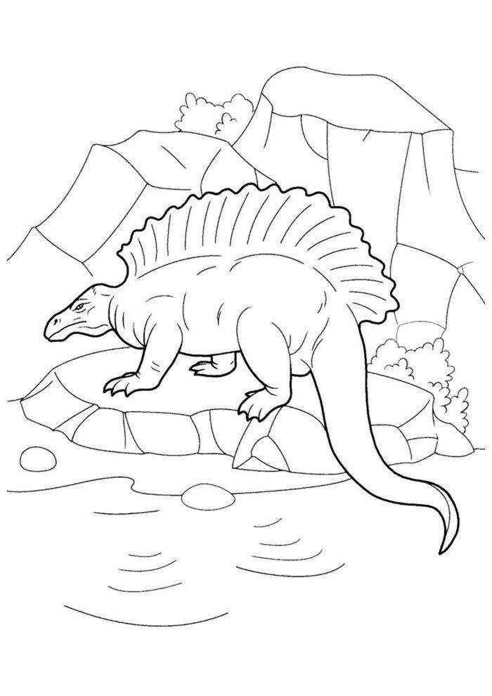 coloriage dinosaure 107