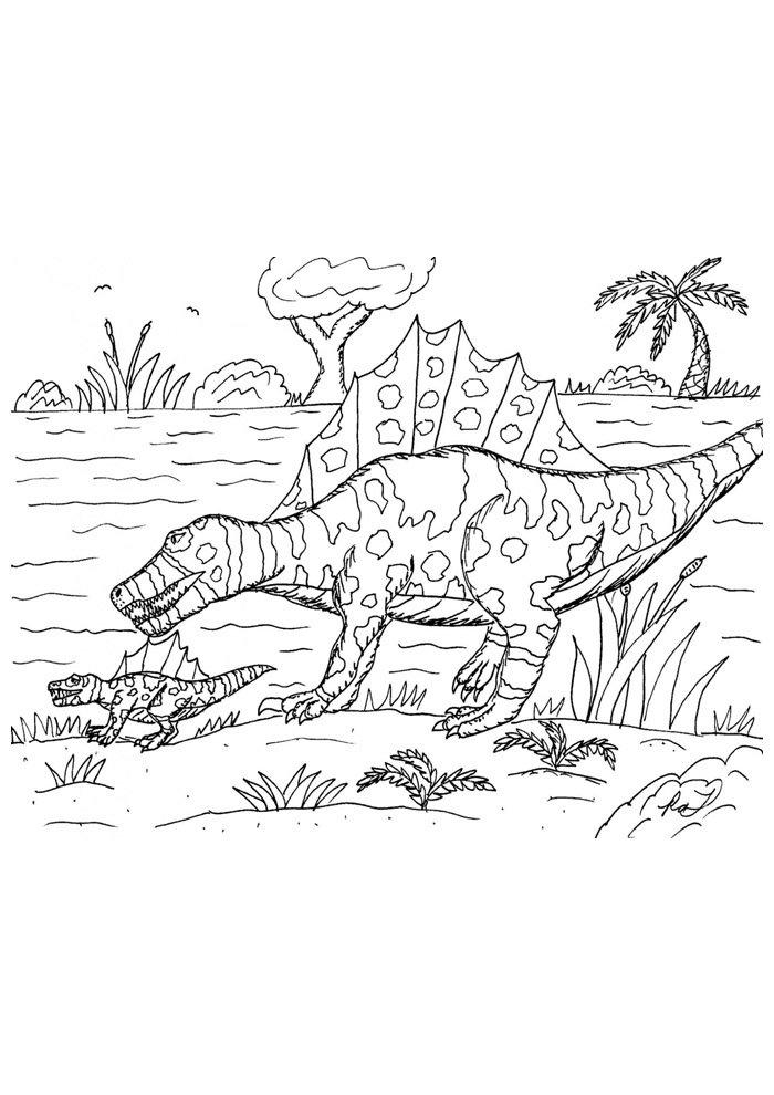 coloriage dinosaure 108