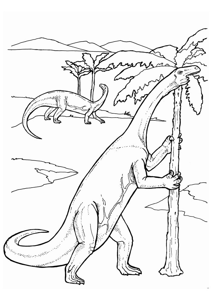 coloriage dinosaure 109