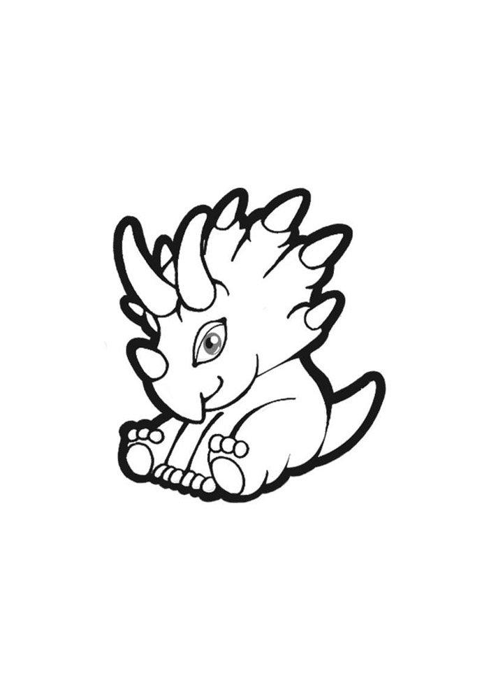 coloriage dinosaure 17