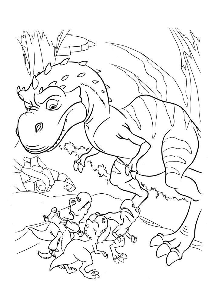 coloriage dinosaure 19