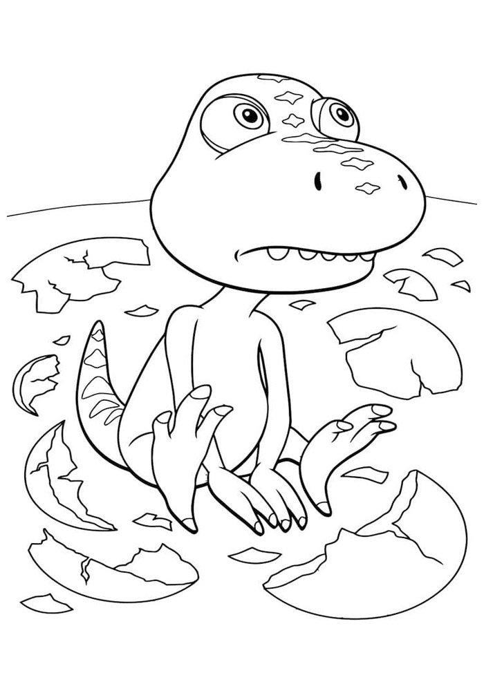 coloriage dinosaure 21