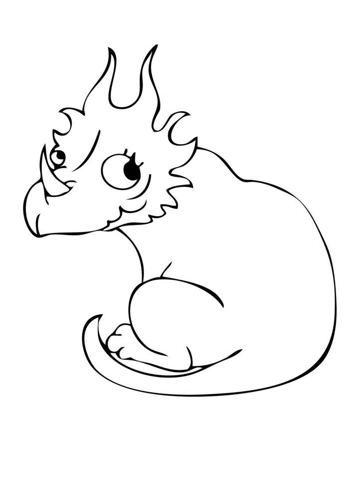 coloriage dinosaure 30
