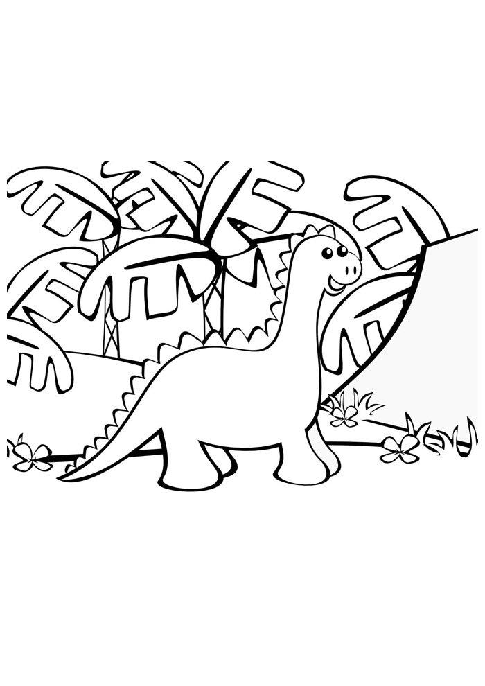 coloriage dinosaure 33