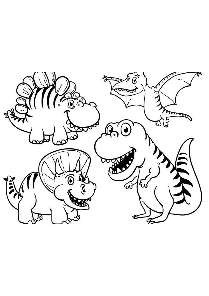 coloriage dinosaure 34
