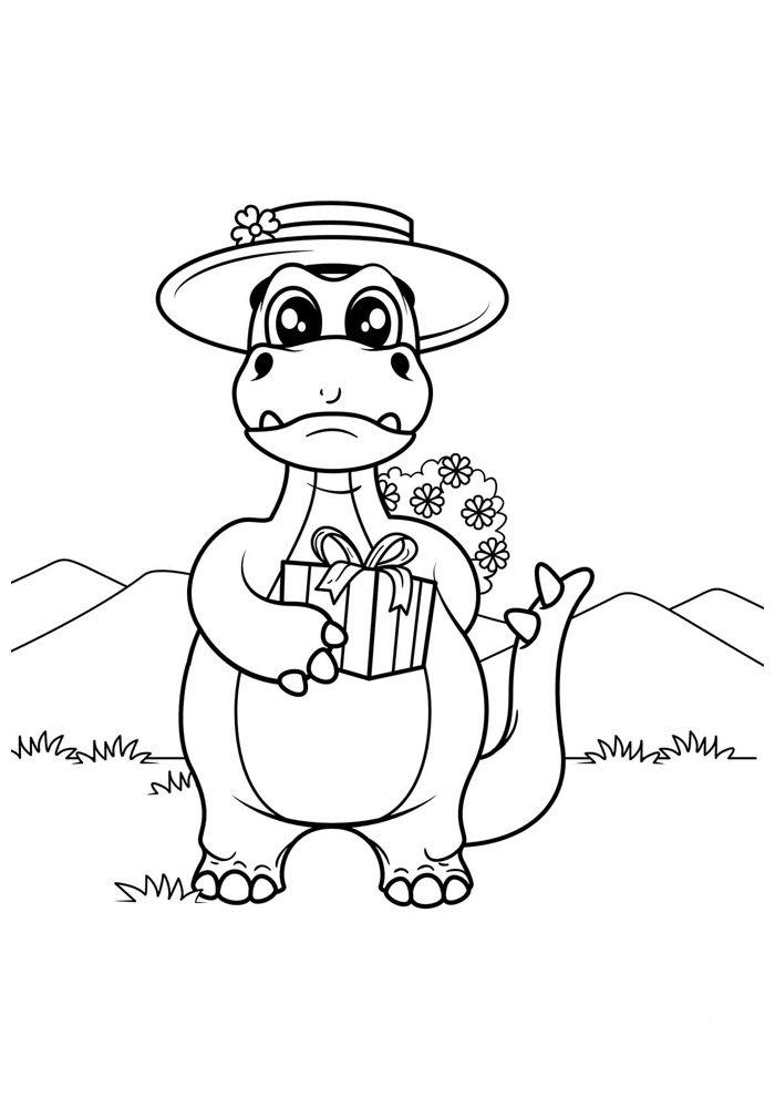 coloriage dinosaure 36