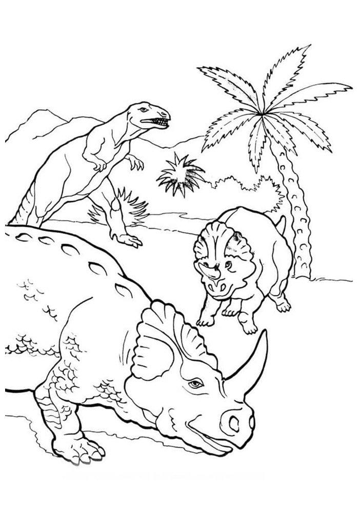 coloriage dinosaure 39