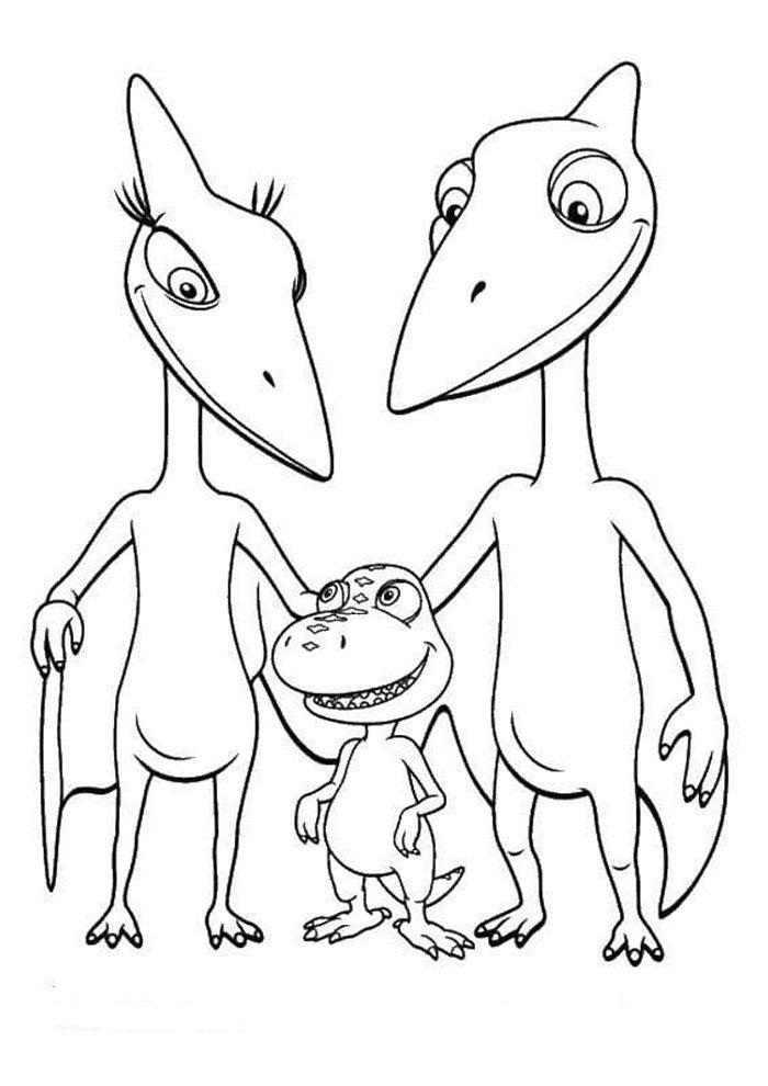 coloriage dinosaure 40