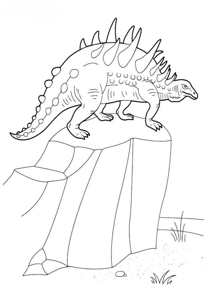 coloriage dinosaure 51