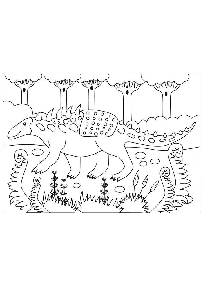 coloriage dinosaure 52