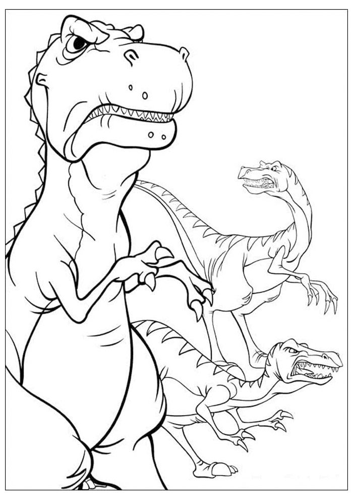 coloriage dinosaure 53