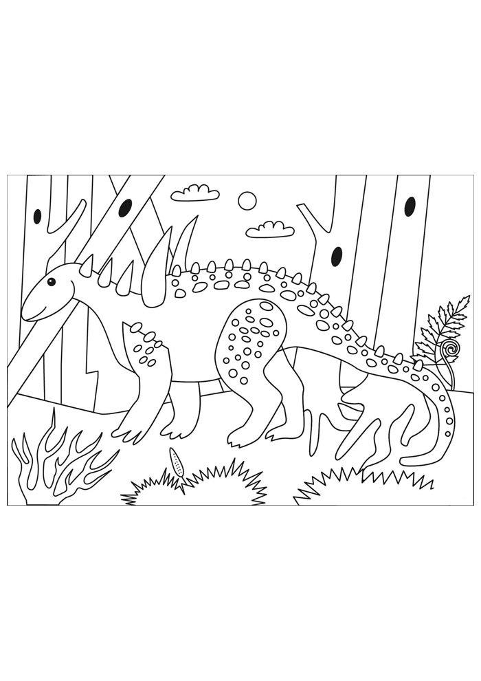 coloriage dinosaure 56