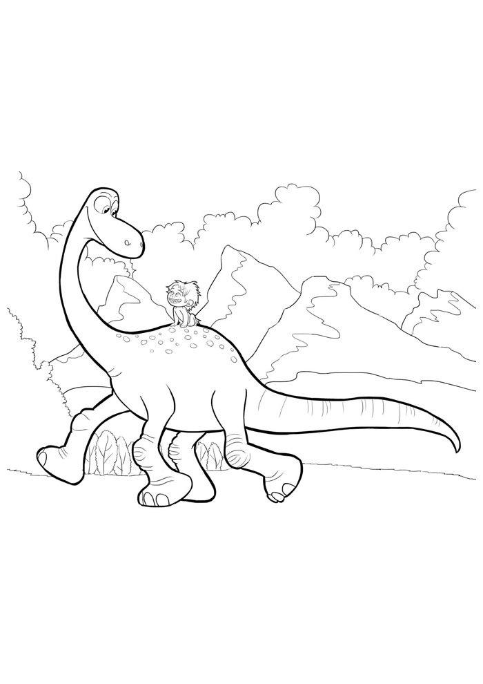 coloriage dinosaure 57
