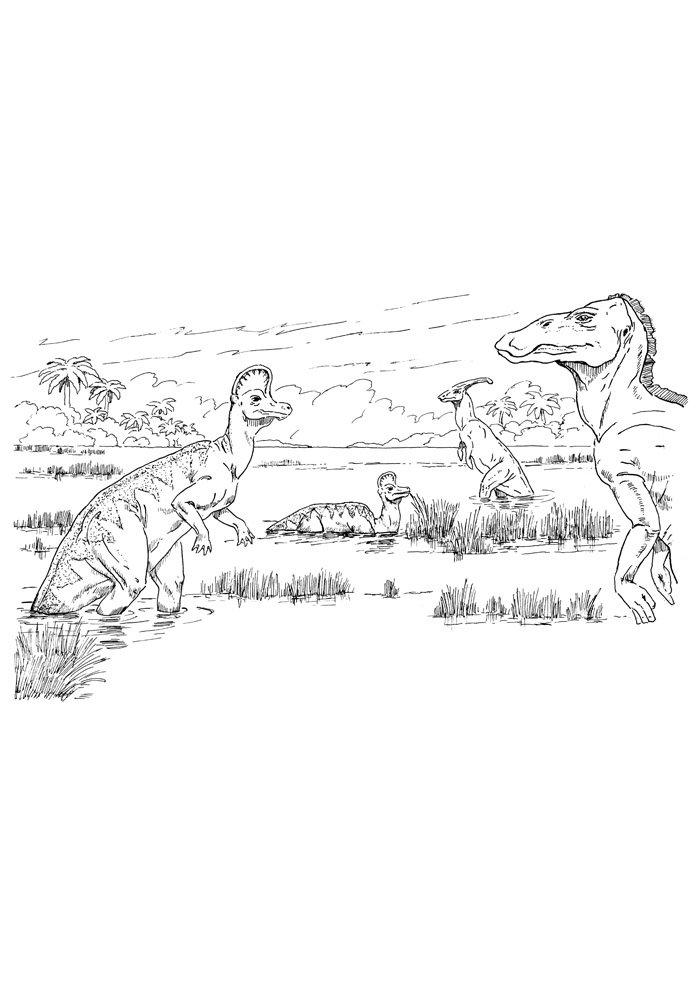coloriage dinosaure 58
