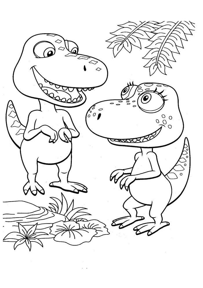 coloriage dinosaure 62