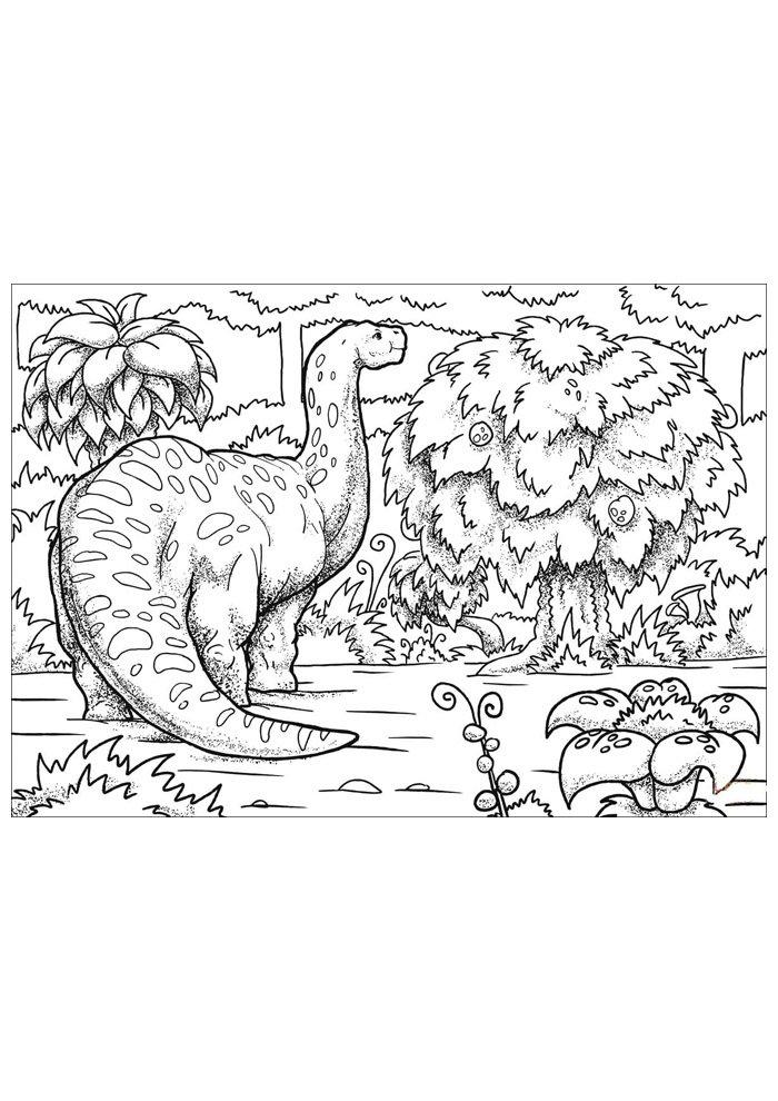 coloriage dinosaure 65