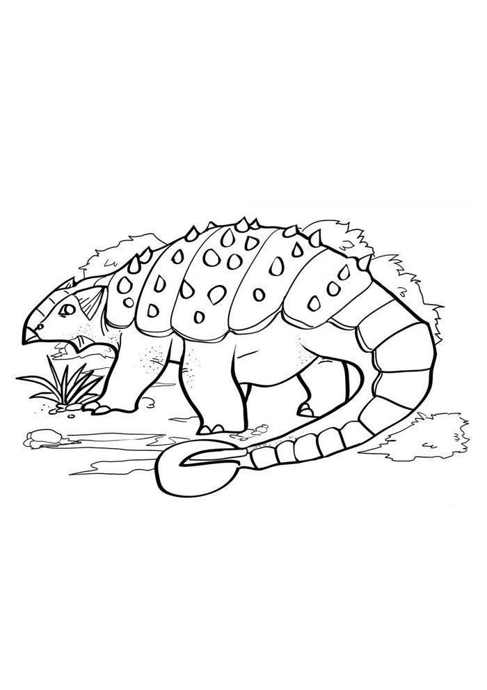 coloriage dinosaure 69