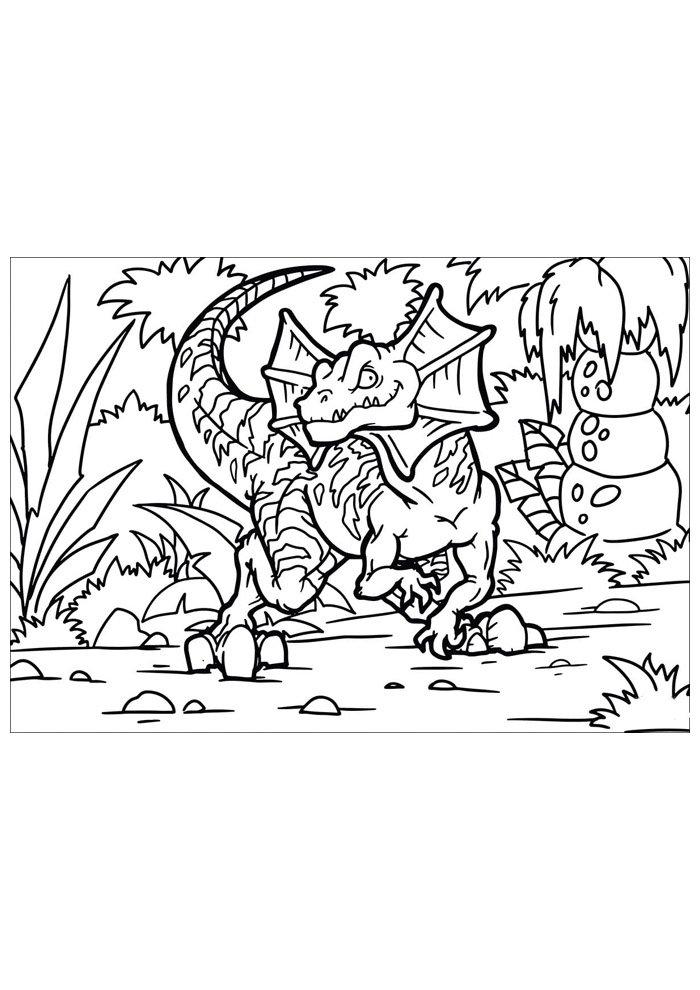 coloriage dinosaure 70