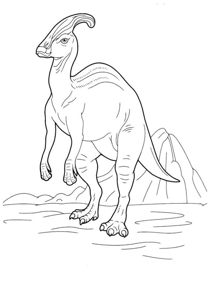 coloriage dinosaure 73
