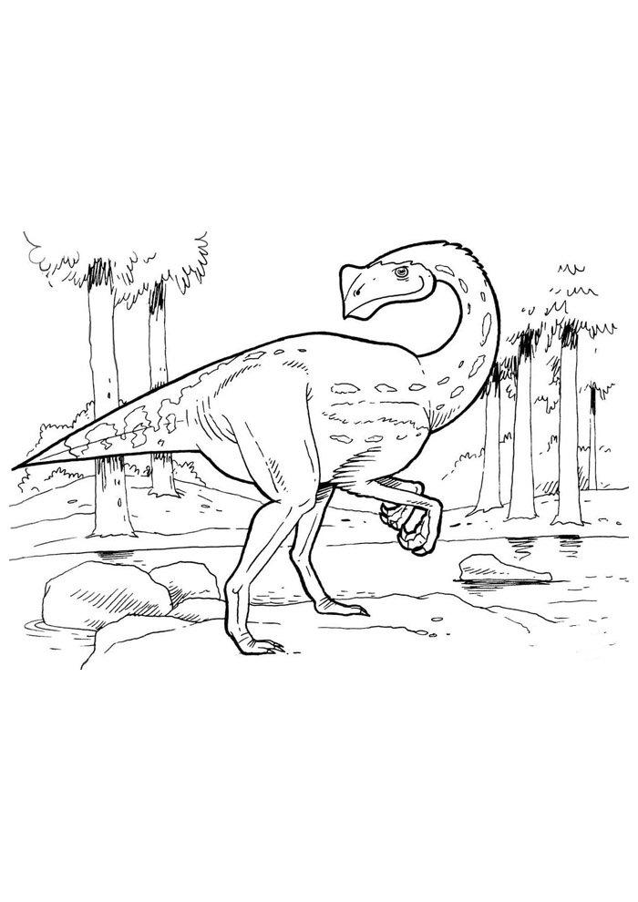 coloriage dinosaure 75