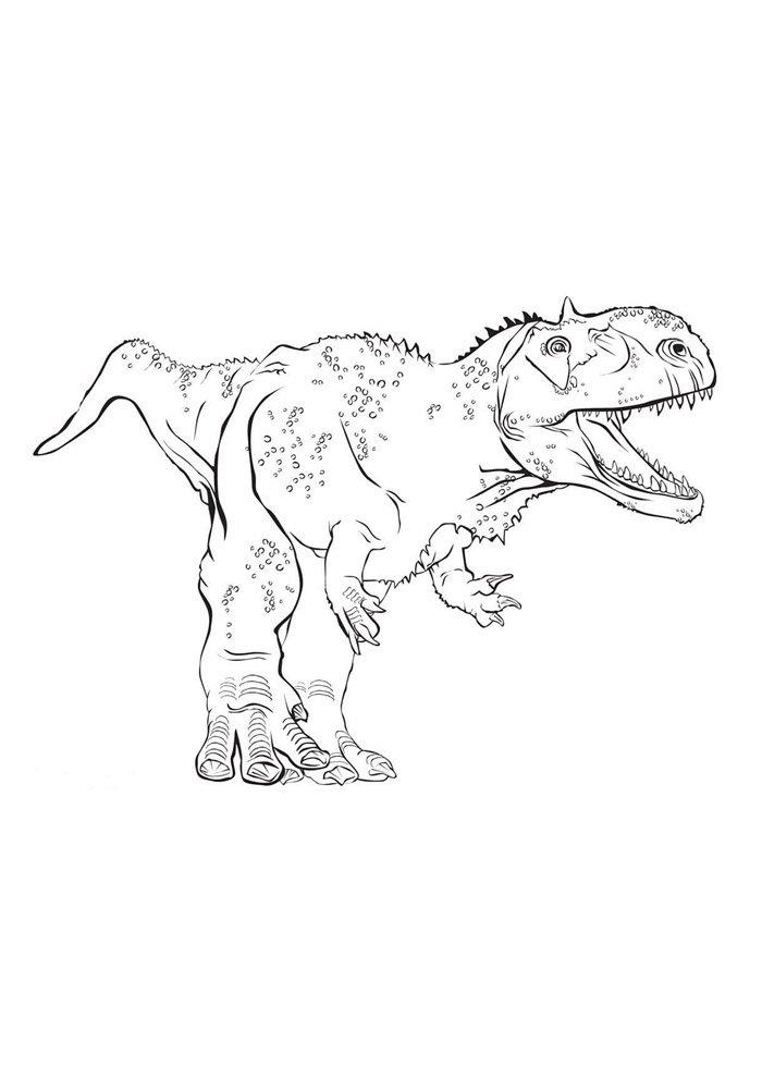 coloriage dinosaure 80