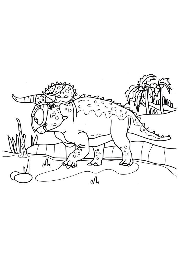 coloriage dinosaure 83