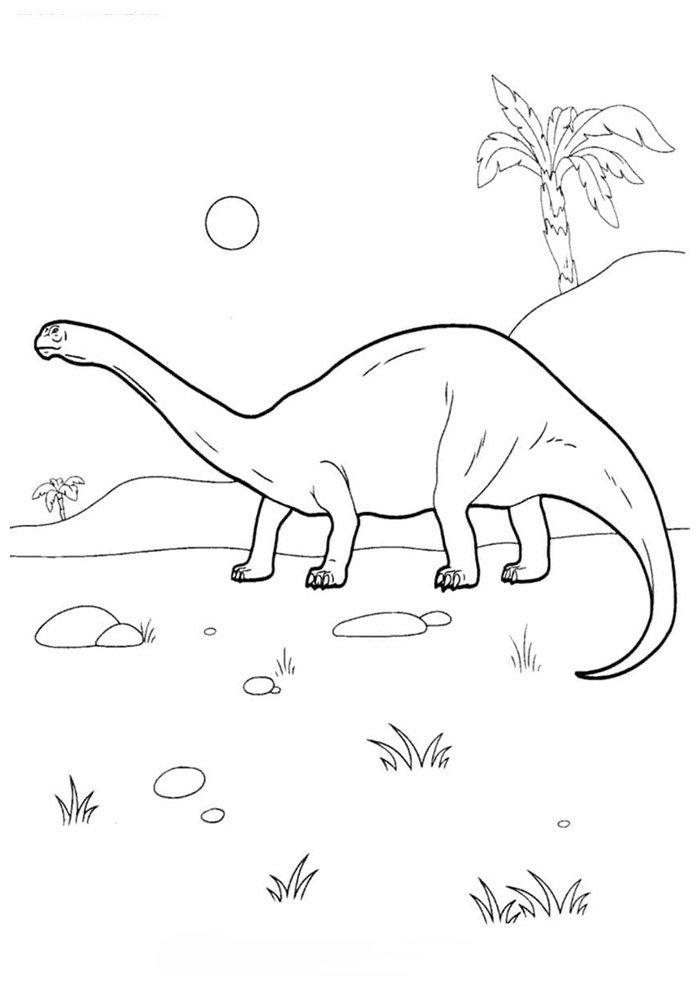 coloriage dinosaure 84