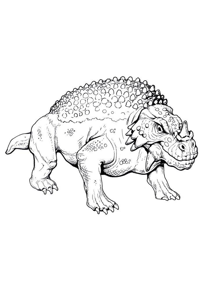 coloriage dinosaure 91