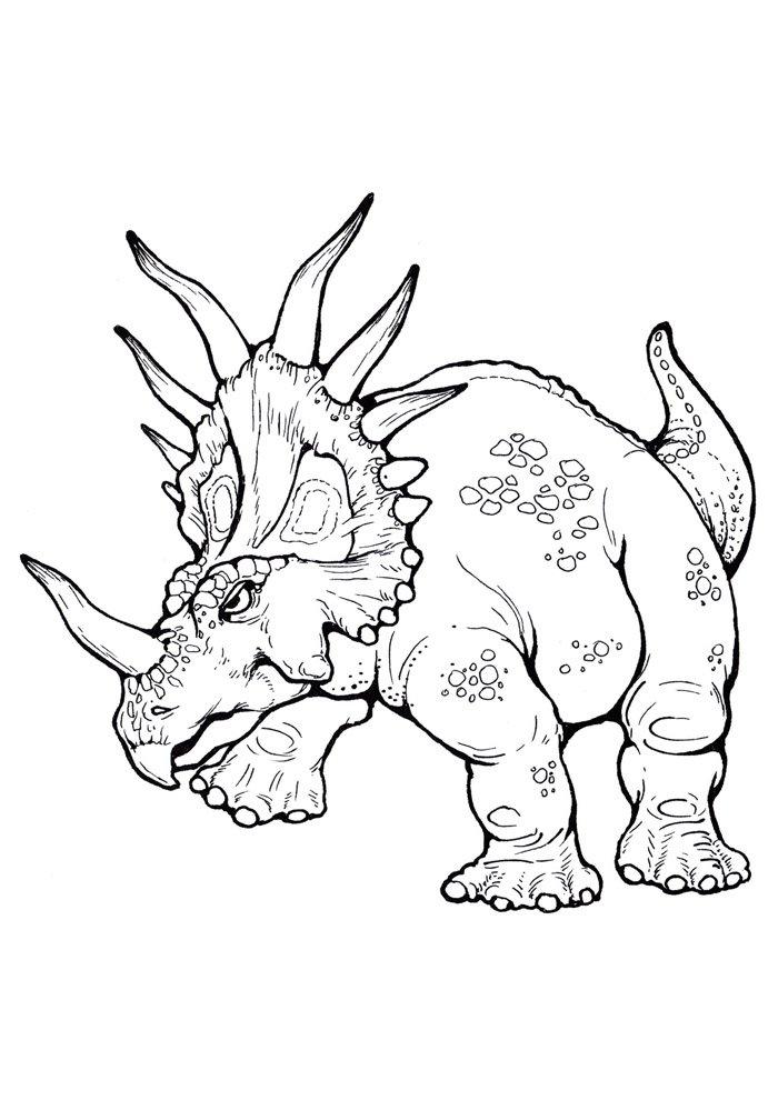 coloriage dinosaure 96