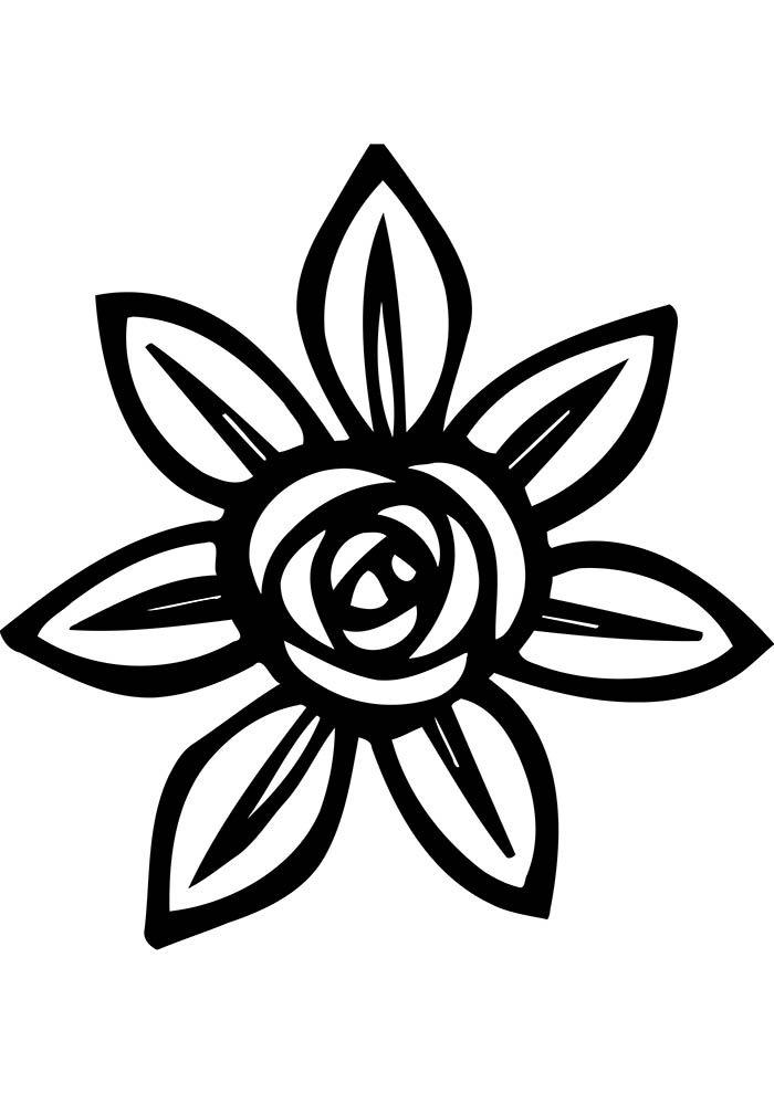 coloriage fleur 36