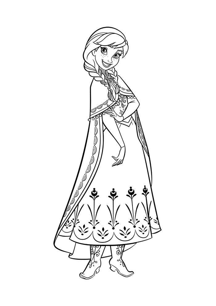coloriage la reine des neiges 10