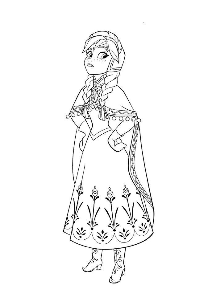 coloriage la reine des neiges 3