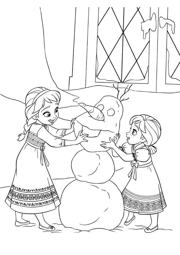 coloriage la reine des neiges 7