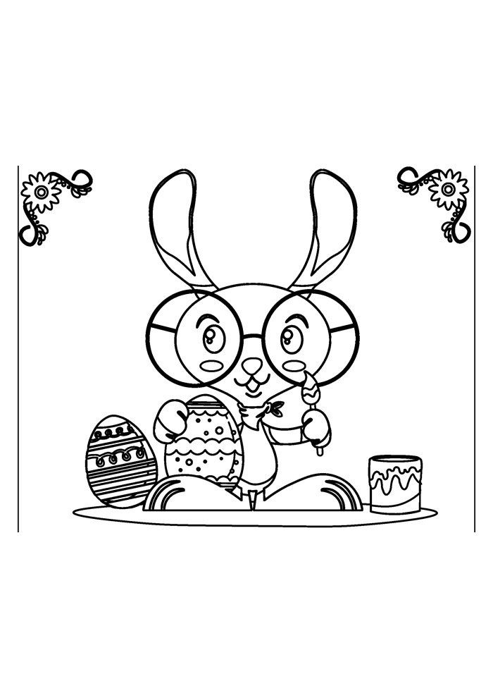 coloriage lapin 30