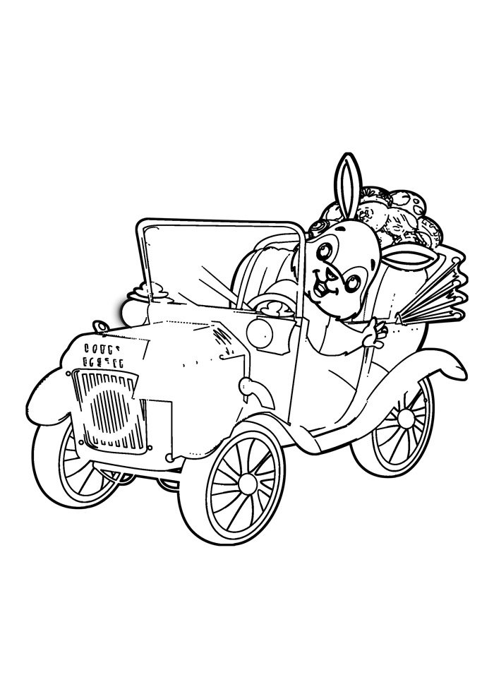 coloriage lapin 31