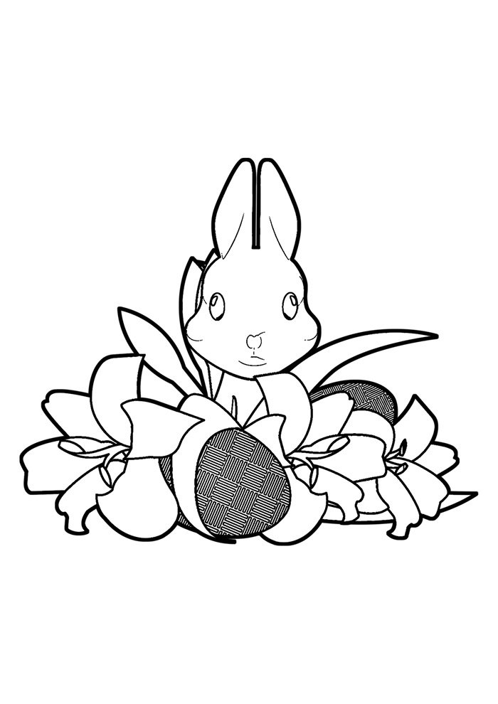 coloriage lapin 33
